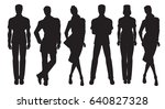 vector silhouettes of people in ... | Shutterstock .eps vector #640827328