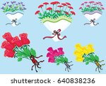 give you a bunch of flowers | Shutterstock .eps vector #640838236