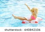 children blond girl enjoying... | Shutterstock . vector #640842106