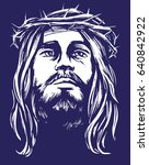 jesus christ  the son of god in ... | Shutterstock .eps vector #640842922