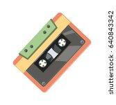cassette icon | Shutterstock .eps vector #640843342