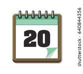 calendar icon | Shutterstock .eps vector #640844356
