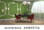 interior dining area. 3d... | Shutterstock . vector #640855726