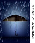 cover up an umbrella from the... | Shutterstock .eps vector #640858942
