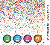 web buttons on background of... | Shutterstock .eps vector #640859746