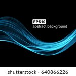 abstract light wave futuristic... | Shutterstock .eps vector #640866226