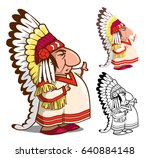 indian chief in feather...