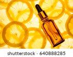 citrus lemon essential oil ... | Shutterstock . vector #640888285
