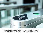 electronic access equipment on... | Shutterstock . vector #640889692