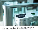 electronic access equipment on... | Shutterstock . vector #640889716