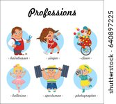 professions. set of profession... | Shutterstock .eps vector #640897225