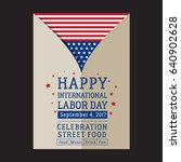 happy labor day poster | Shutterstock . vector #640902628