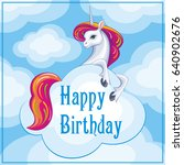 happy birthday greeting card... | Shutterstock .eps vector #640902676