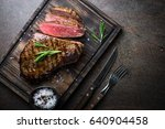 fresh grilled meat. grilled... | Shutterstock . vector #640904458