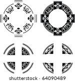 set of fantasy rings. stencil....   Shutterstock .eps vector #64090489