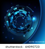 abstract circle background. | Shutterstock .eps vector #64090723