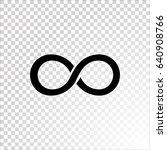 infinity icon vector. | Shutterstock .eps vector #640908766