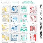 infographics mini concept... | Shutterstock . vector #640913698