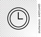 clock icon vector .