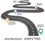 3d itinerary planning... | Shutterstock .eps vector #640917985