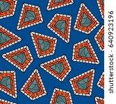 seamless pattern of beautiful... | Shutterstock .eps vector #640923196