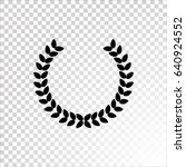 winner wreath icon vector.