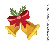 christmas bells flat icon | Shutterstock .eps vector #640927516