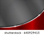metal perforated background... | Shutterstock . vector #640929415