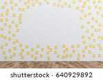white wall is covered by many... | Shutterstock . vector #640929892