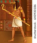 vector design of egyptian... | Shutterstock .eps vector #640930186