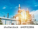 oil and gas industry refinery... | Shutterstock . vector #640932886