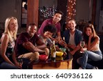 young adult friends having a... | Shutterstock . vector #640936126