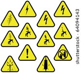 electricity sign set vector... | Shutterstock .eps vector #64094143