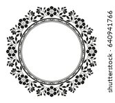 decorative line art frames for... | Shutterstock .eps vector #640941766