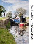 A Narrowboat Entering The  New...
