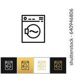 washing machine sign or laundry ...