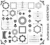 vintage set of vector... | Shutterstock .eps vector #640947892