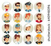 set icons business avatars flat ... | Shutterstock .eps vector #640948396