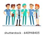 hospital medical team doctor... | Shutterstock .eps vector #640948405