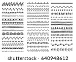 set of hand drawn seamless... | Shutterstock .eps vector #640948612