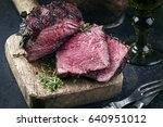 barbecue wagyu point steak  as... | Shutterstock . vector #640951012