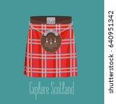 scottish traditional skirt kilt ...