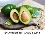 Green Ripe Avocado From Organic ...