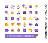 business and finance flat icons | Shutterstock .eps vector #640952722