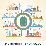 infographics elements  travel... | Shutterstock .eps vector #640953202