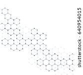 illustration hexagonal...   Shutterstock . vector #640954015