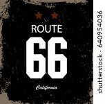 california route 66  typography ...   Shutterstock .eps vector #640954036