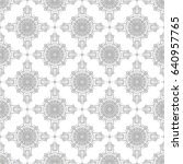 vector pattern seamless. black... | Shutterstock .eps vector #640957765