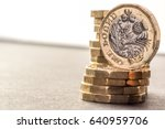 Small photo of New British One Pound Sterling Coin Chart Rate
