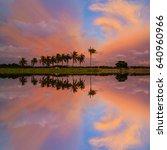 Small photo of Reflections of sunset bias at Tanjung Putus , Penang
